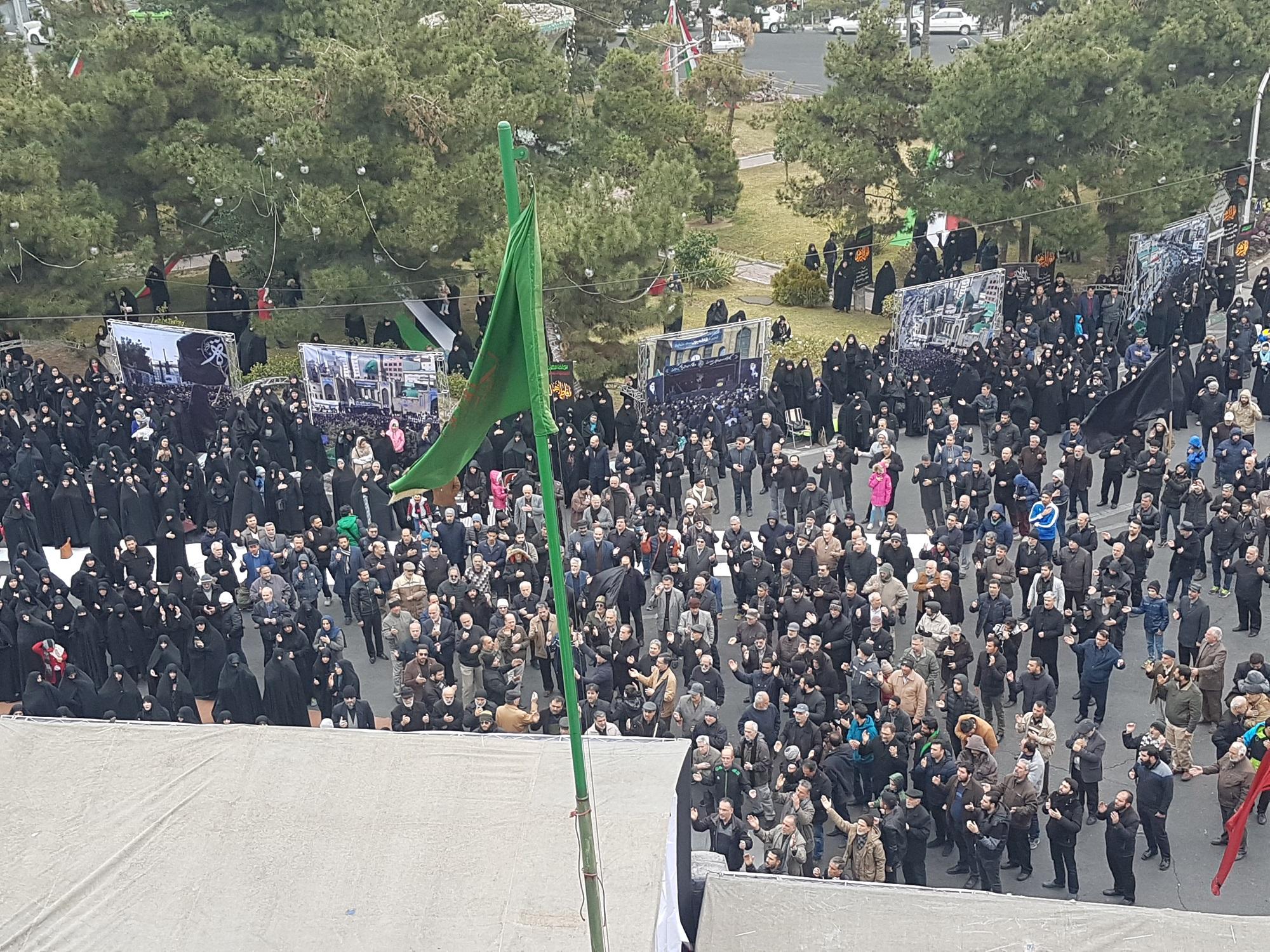 تجمع بزرگ فاطمیون سعادتآباد برگزار شد +تصاویر