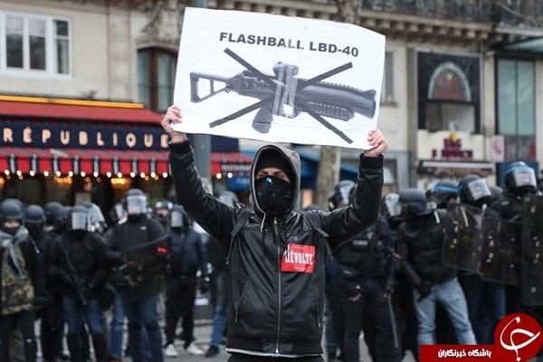 از دست دادن چشم بهای اعتراض در فرانسه +عکس