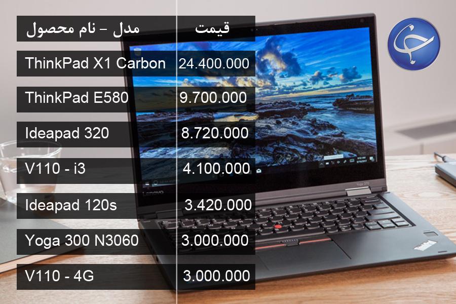 آخرین قیمت روز انواع لپ تاپ در بازار (تاریخ ۲۱ بهمن) +جدول