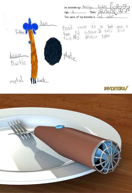 ۱۱ اختراع جالب و کاربردی کودکان /  از خنک کننده غذا تا دمپایی بدون صدا + تصاویر