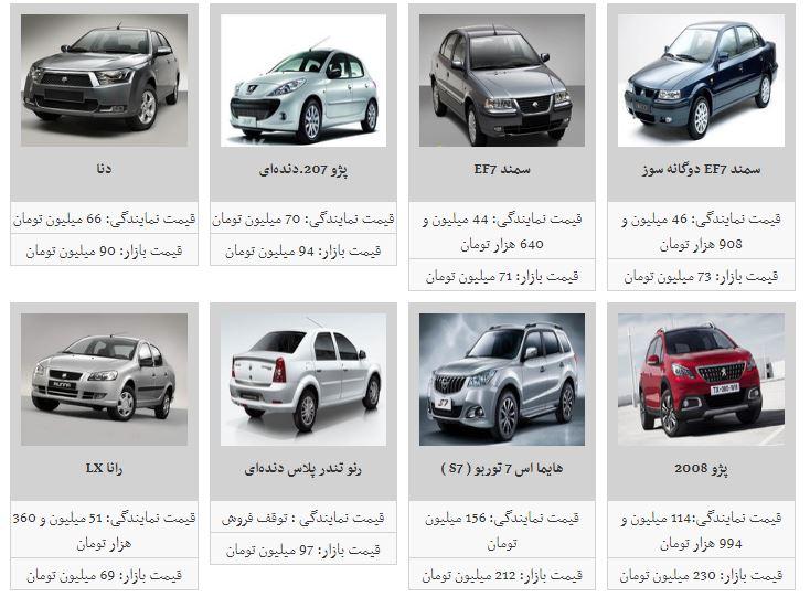 سیر صعودی  قیمت خودرو ادامه یافت + جدول