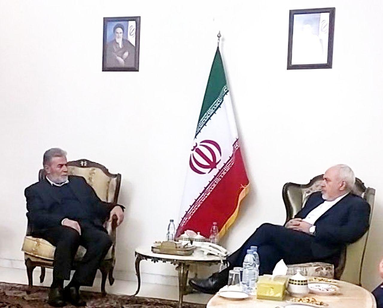 دبیرکل جنبش جهاد اسلامی فلسطین با ظریف دیدار کرد