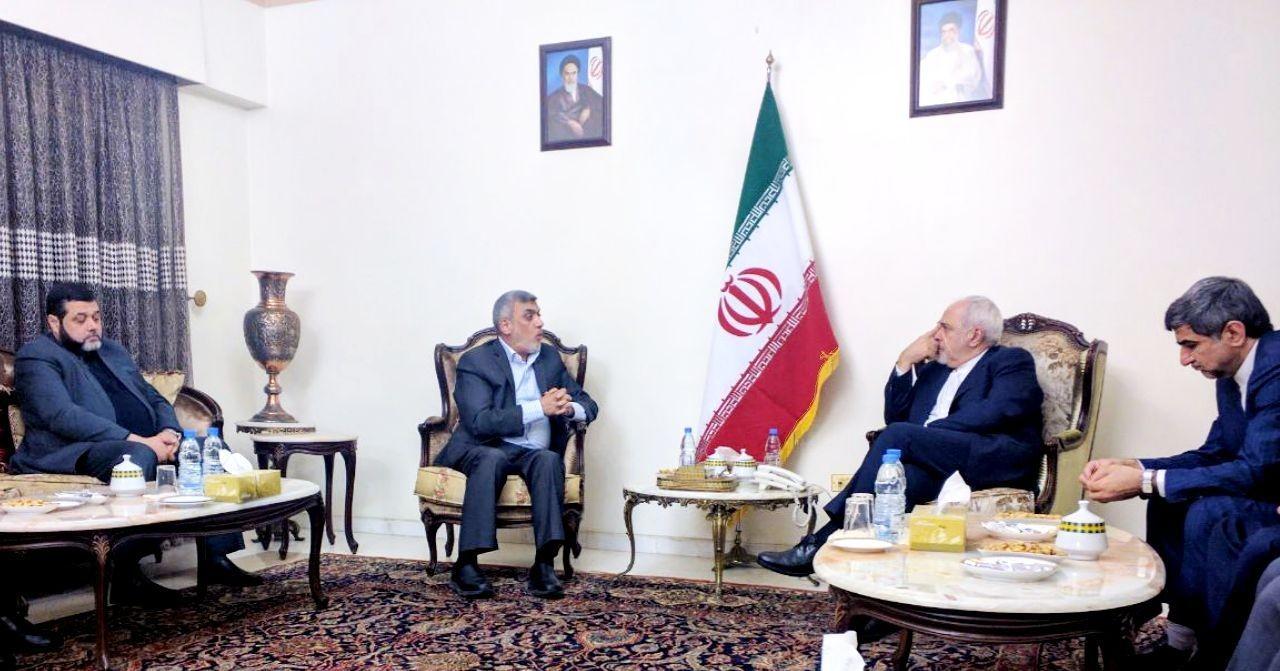 دیدار اعضای دفتر سیاسی جنبش حماس با ظریف