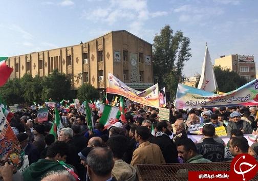 خروش مردم انقلابی خوزستان در یوم الله ۲۲ بهمن