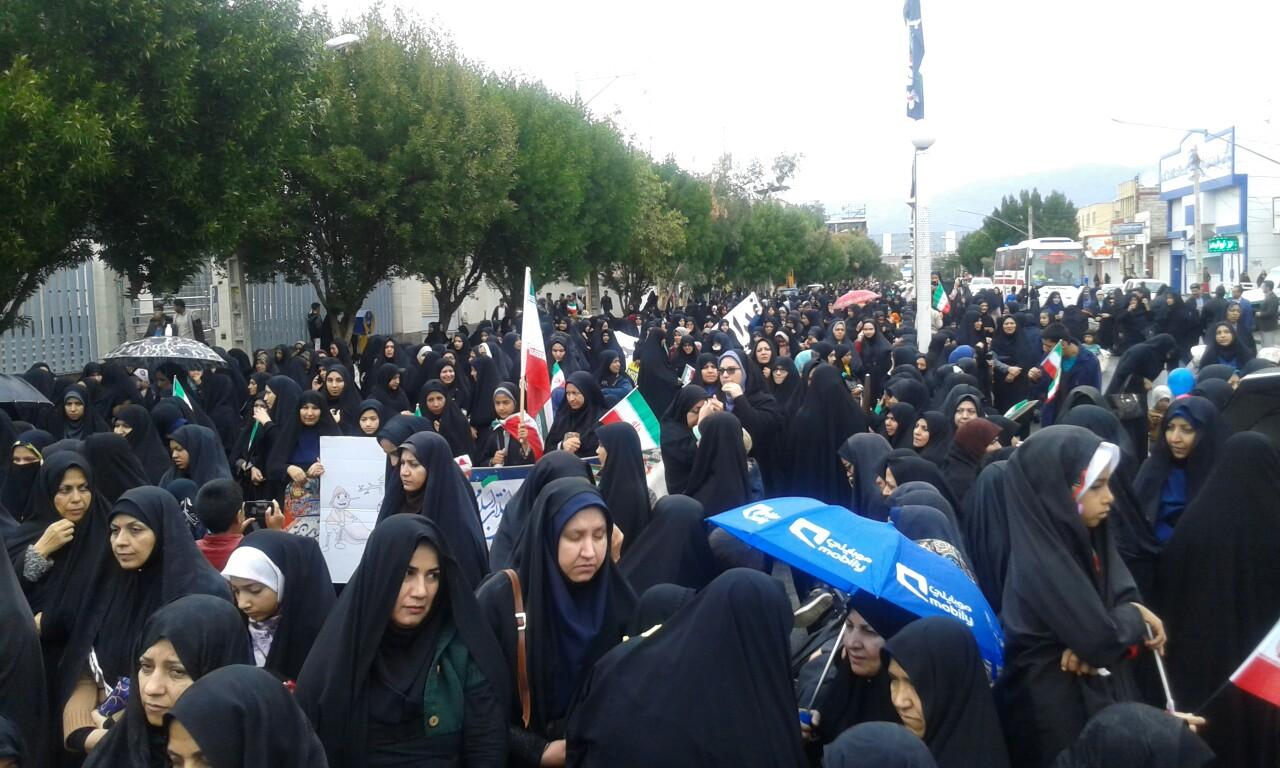 چهلمین بهار انقلاب در کرمان باشکوه وبا شعارمرگ برآمریکا آغاز شد