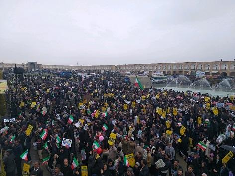 راهپیمایی ۲۲ بهمن ۹۷ در استان اصفهان