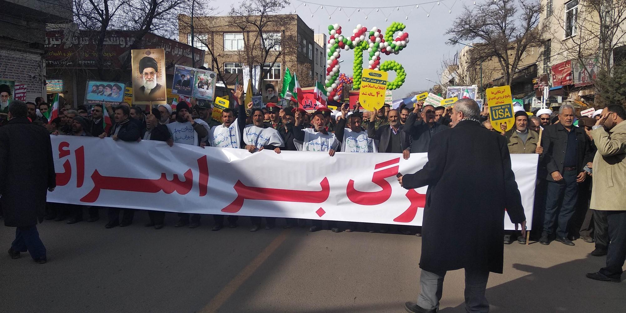 آغاز راهپیمایی باشکوه 22 بهمن در زنجان؛ طنین شعار مرگ بر آمریکا در آسمان زنجان