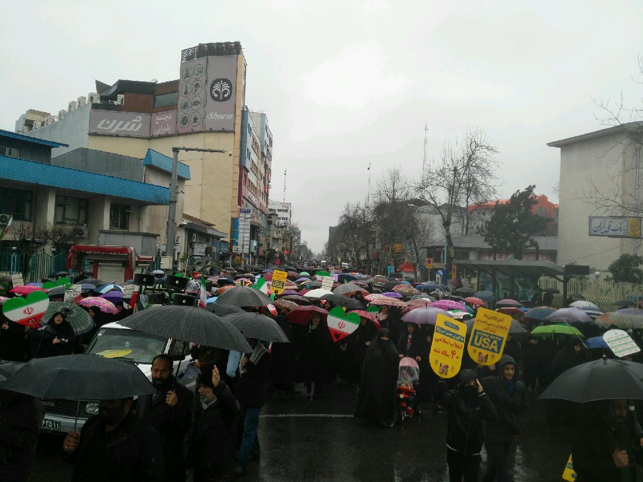 عکس ها و حاشیههای راهپیمایی ۲۲ بهمن ۹۷ در شهر رشت