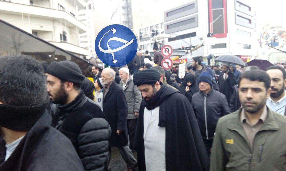 حضور فرزندان رهبر انقلاب در راهپیمایی ۲۲ بهمن +تصویر