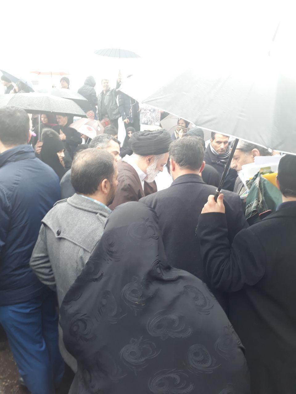حضور فرزندان رهبر انقلاب در راهپیمایی ۲۲ بهمن +تصاویر