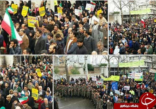 عکسها و حاشیههای راهپیمایی ۲۲ بهمن ۹۷ در استان گلستان