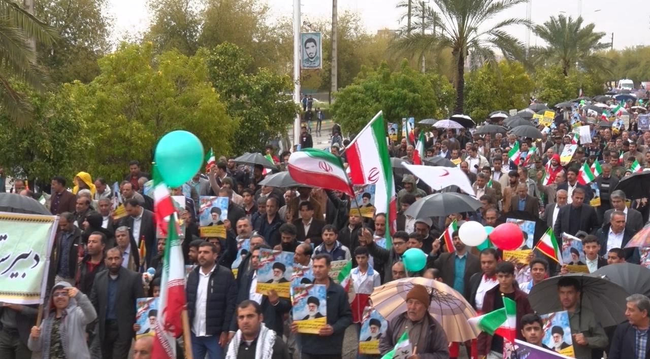 عکس ها و حاشیههای راهپیمایی ۲۲ بهمن ۹۷ در استان بوشهر