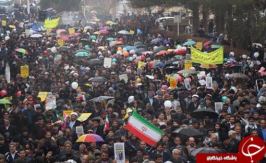 حضور پرشور مردم شهرستانهای یزد در راهپیمایی ۲۲ بهمن ۹۷+تصاویر