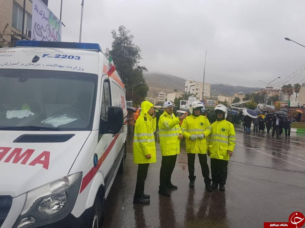 خدمات رسانی سازمانهای مختلف در راهپیمایی ۲۲ بهمن + تصاویر