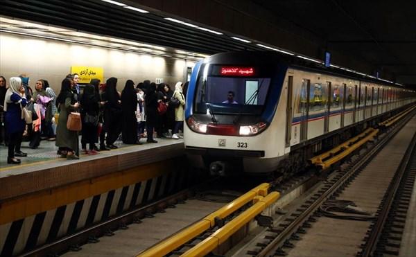 جابجایی ۹۲۷هزارو ۴۵۶نفر با متروی تهران در یوم الله ۲۲ بهمن ۹۷