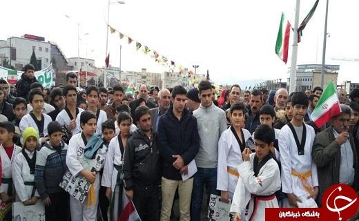 حضور ورزشکاران یزدی در چهمین جشن انقلاب +تصاویر
