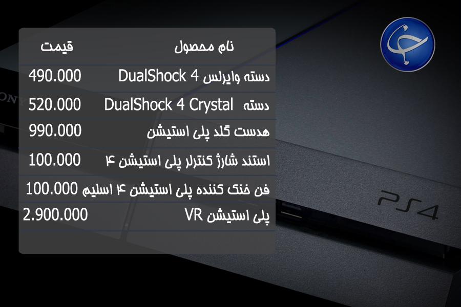 آخرین قیمت انواع کنسول بازی و لوازم جانبی آن در بازار (تاریخ ۲۳ بهمن) +جدول