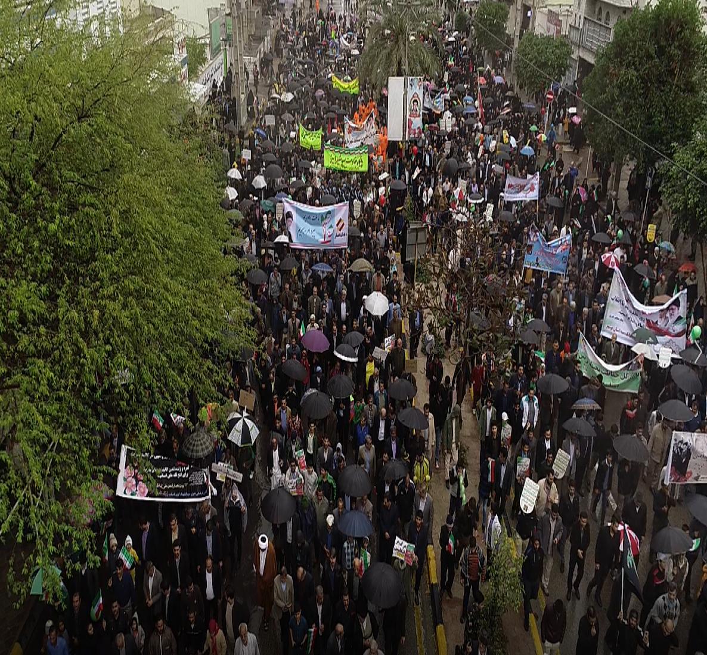 نقاط مختلف استان بوشهر صحنه حضوری دیگر