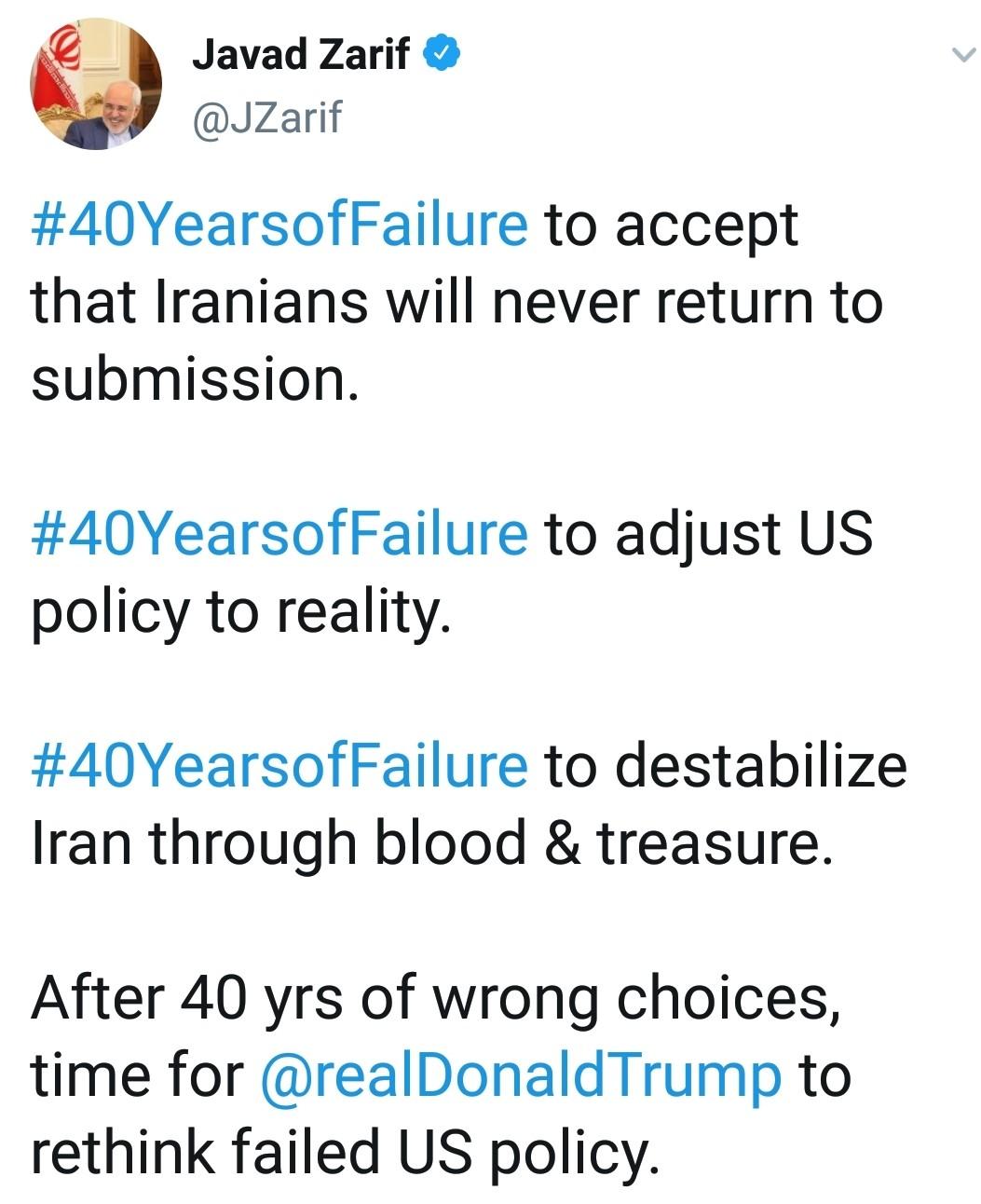 ایالات متحده ۴۰ سال است که در منطبق کردن سیاست خود با واقعیت ناکام مانده است