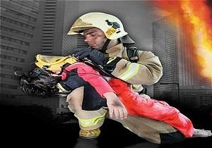 نجات 2 نفر با تلاش آتش نشانان همدانی
