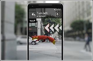گوگل در حال آزمایش فناوری واقعیت افزوده برای گوگل مپ +تصویر