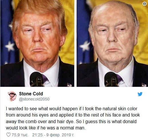 تصویری از کچلی ترامپ در فضای مجازی همه را شوکه کرد
