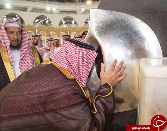 خشم کاربران شبکههای اجتماعی از ورود محم بن سلمان به داخل کعبه+تصاویر