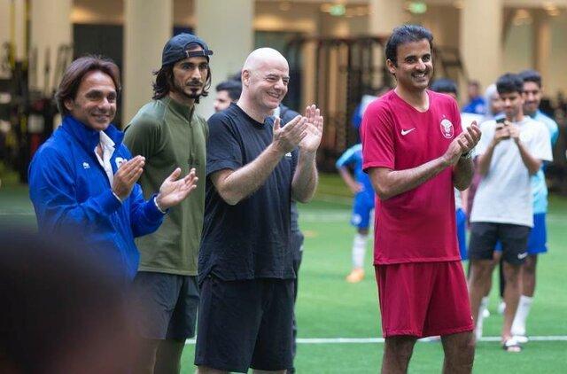 بازدید رییس فیفا از کمپ اسپایر قطر