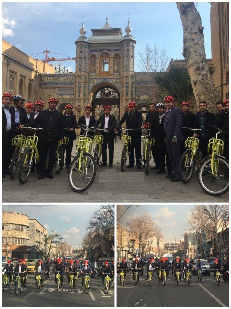 رکابزنی حناچی و شهرداران کلانشهرها تا میدان مشق + عکس