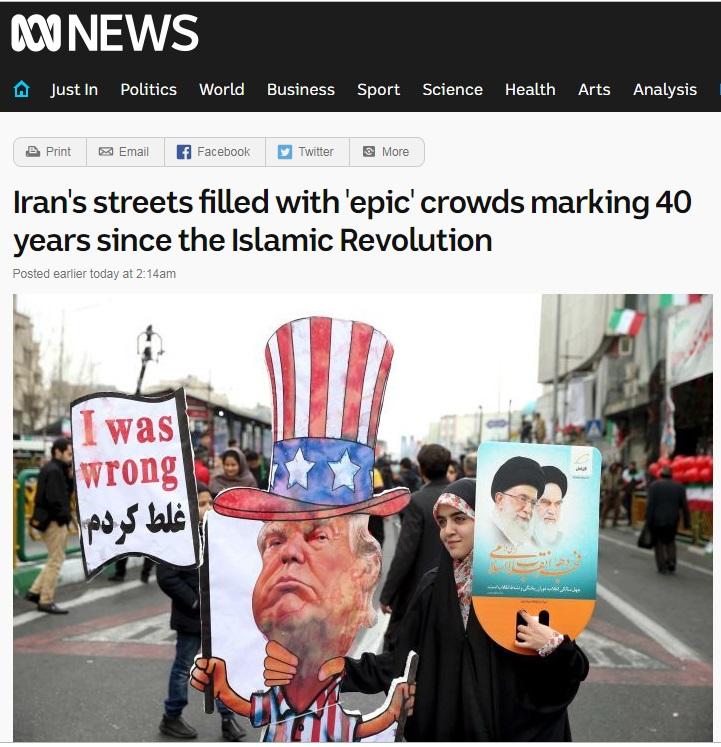 رسانههای آمریکایی درباره جشن چهل سالگی انقلاب چه گفتند؟
