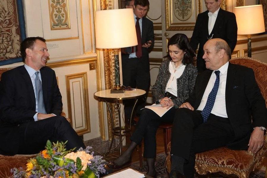 دیدار وزرای امور خارجه فرانسه و انگلیس و حمایت از اجرای برجام