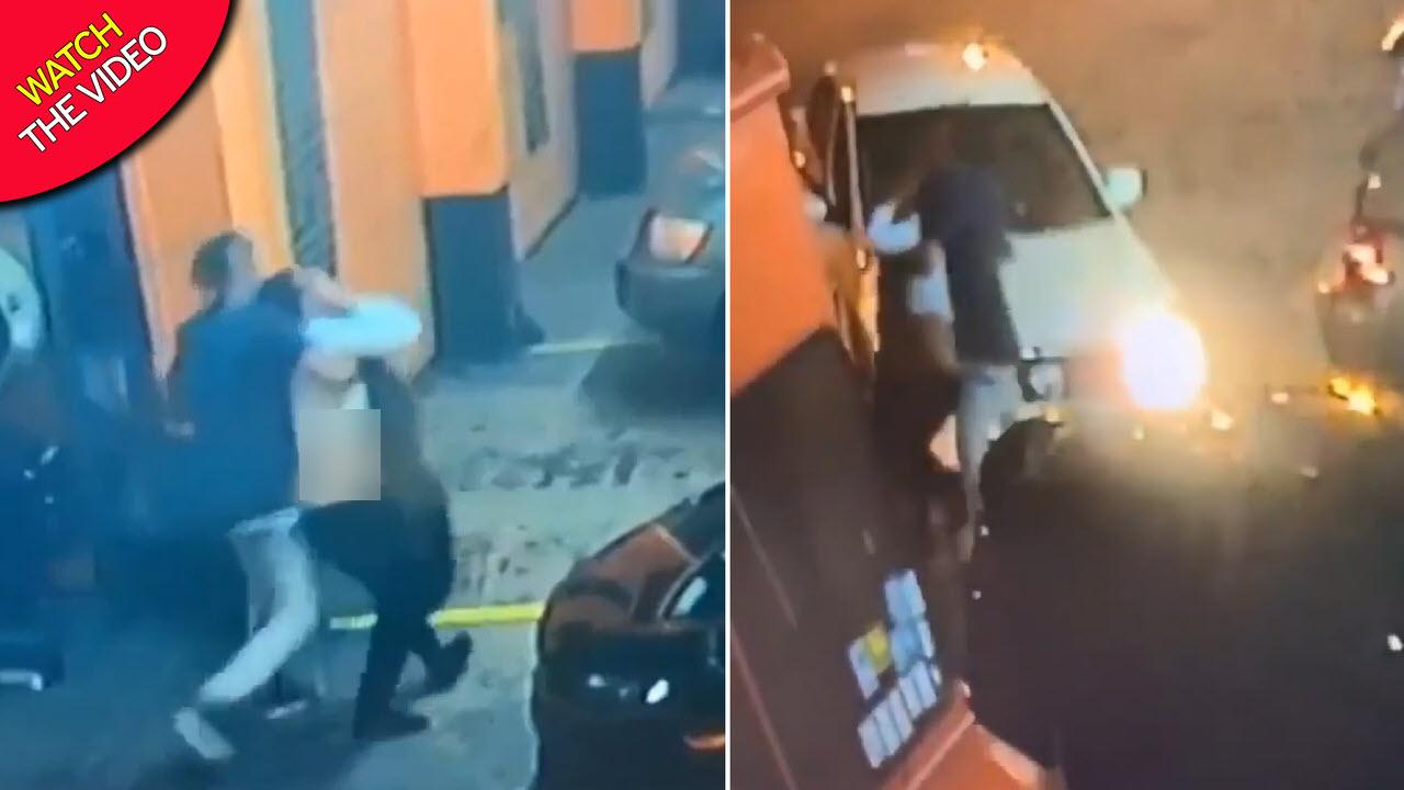 لحظه ربودن زن جوان از مقابل تعمیرگاه خودرو! + فیلم/////