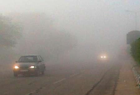 مه گرفتگی در جاده خنج
