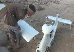 سرنگونی یک فروند پهپاد جاسوسی متجاوزان سعودی در مرز نجران + فیلم