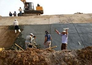 بازسازی شکستگی کانال انتقال آب اهواز