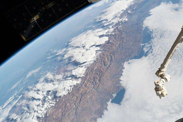 تصویری زیبا و دیدنی سواحل اقیانوس آرام از منظر فضا