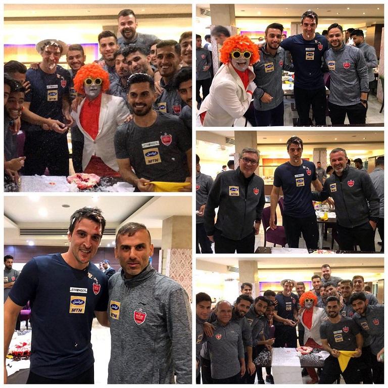 جشن تولد پرسپولیسی ها برای بازیکن جدید تیمشان
