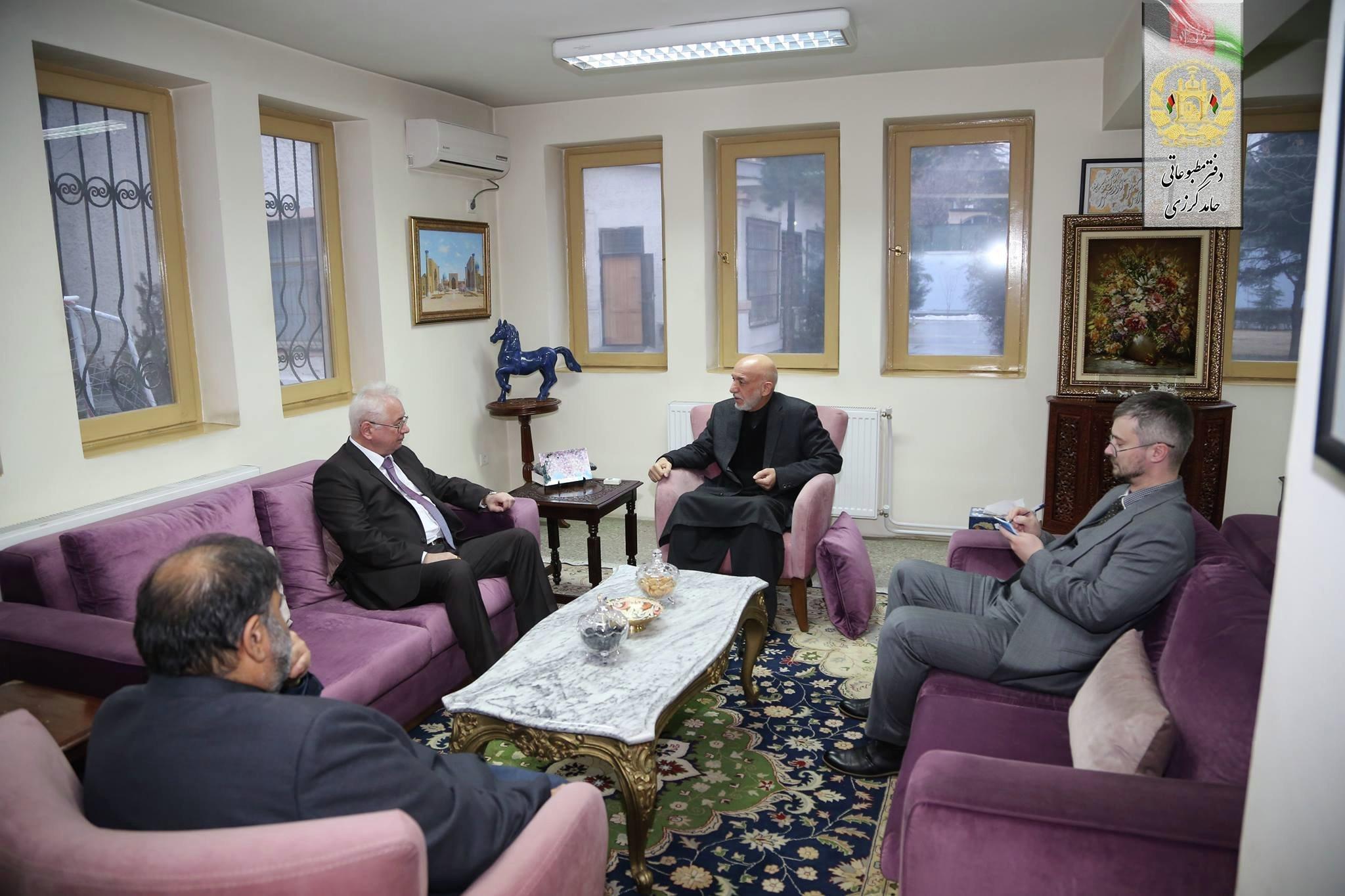دیدار سفیر روسیه در کابل با کرزی