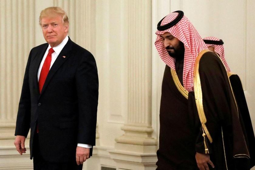 رقص شیطان ترامپ و تروریستها در یک شب