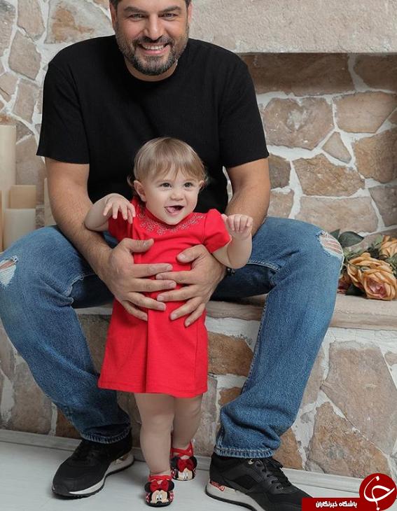 اولین تصویری که سام درخشانی از دخترش منتشر کرد