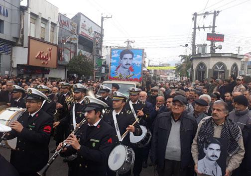 تشییع پیکر شهید گیلان نژاد صبح امروز در چالوس