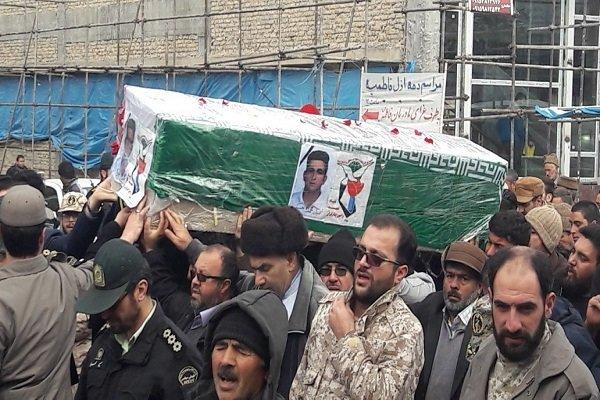 پیکر مطهر شهید مرزبانی در قوچان تشییع شد