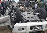 باشگاه خبرنگاران - واژگونی خودرو در پی برخورد با عابر پیاده