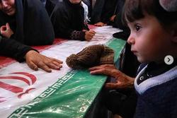 آخرین دیدار فرزند شهید امید اکبری با پدرش +تصاویر