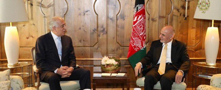 دیدار اشرف غنی و خلیلزاد در حاشیه نشست امنیتی مونیخ