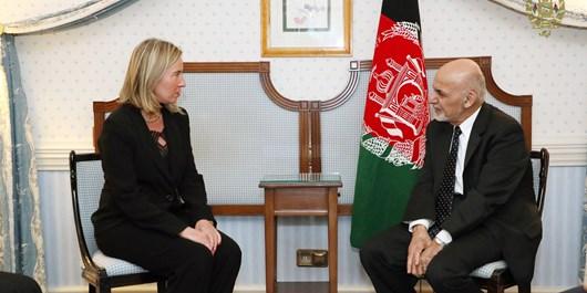 موگرینی در دیدار با غنی: اتحادیه اروپا از پروسه صلح افغانستان حمایت می کند