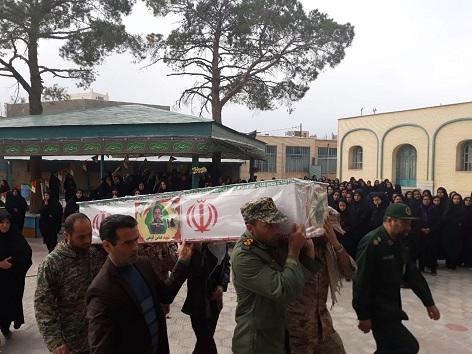 تشییع پیکر شهید مدافع وطن در شهر آیت الله نایینی+ عکس