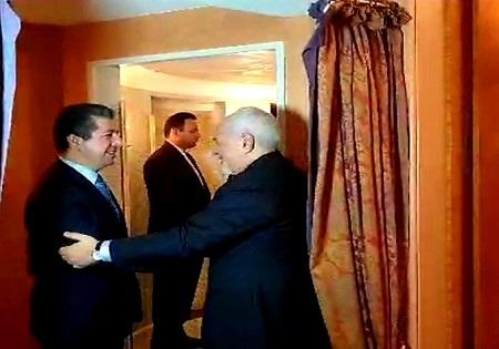 دیدار ظریف با مشاور امنیت ملی کردستان