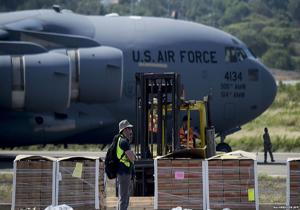 دومین محموله کمکهای آمریکا به ونزوئلا وارد کلمبیا شد