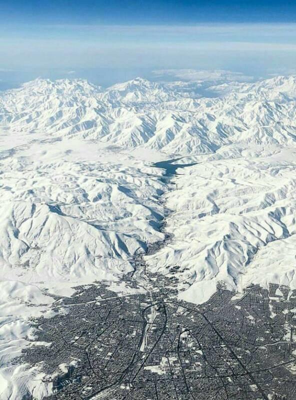 تصویر هوایی دیدنی از ارومیه